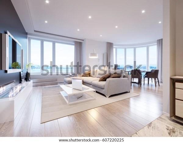 https www shutterstock com fr image illustration modern white gray living room interior 607220225