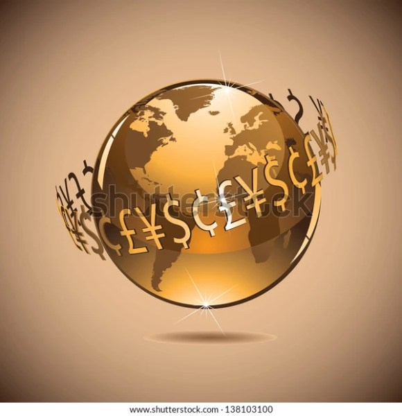 Money Makes World Go Around Jpg Stock Illustration 138103100