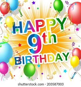 9th Birthday Images Stock Photos Vectors Shutterstock