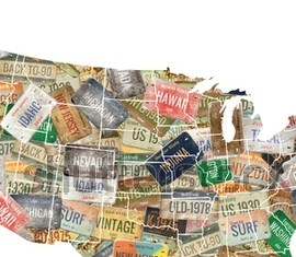 HD Decor Images » USA Map License Plate Collage Stock Illustration 337345466     USA map  License plate collage
