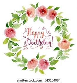 Happy Birthday Flowers Bilder Stockfotos Und Vektorgrafiken Shutterstock
