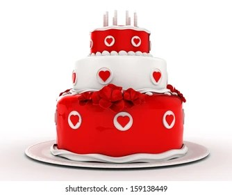 Birthday Cake Red White Images Stock Photos Vectors Shutterstock