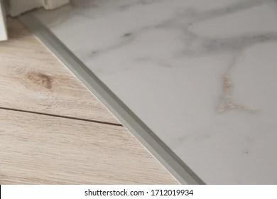 https www shutterstock com image photo aluminium platband laminate tile floor joints 1712019934