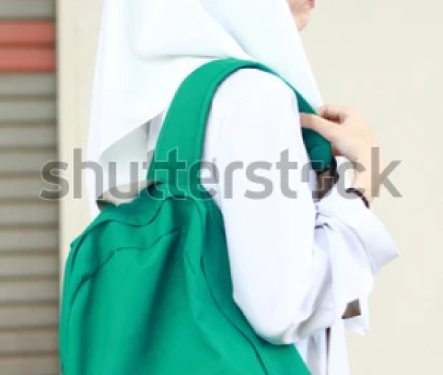 Beautiful And Cute Young Girl In White Outfit Malaysian High School Girl Concept Of Portrait