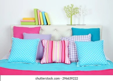 https www shutterstock com image photo bed room top view close 296639222