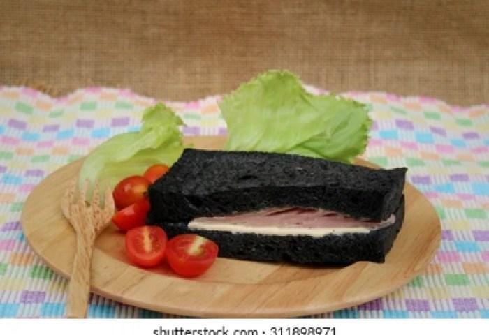 Black Bread Sandwich On Wooden Plates Stock Photo Edit Now