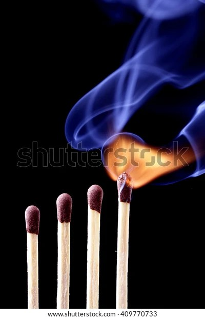 Burning Match Row Matches Stock Photo Edit Now