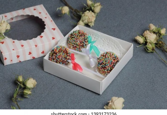 Cake Pops Beautifully Packed Gift Box Stock Photo Edit Now