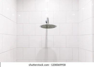 https www shutterstock com image photo chrome clean shower head bathroom 1200069958