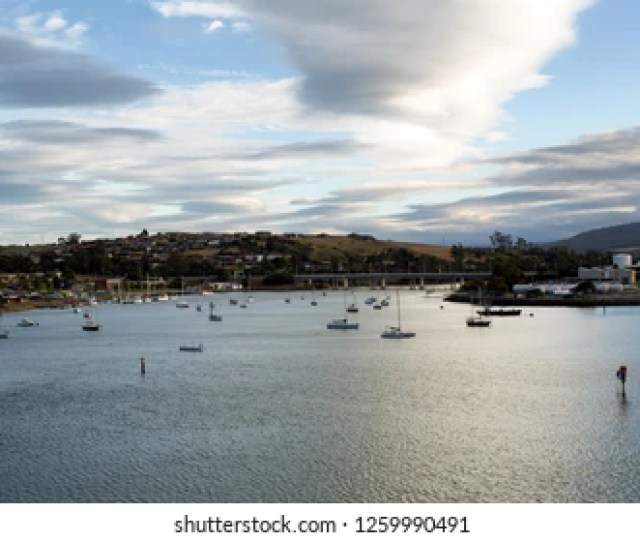 Early Morning View Of The Mersey River Devonport Tasmania