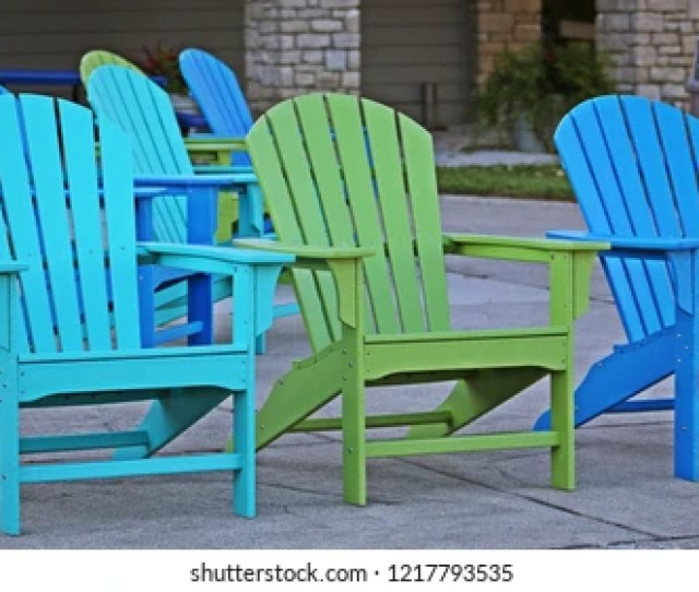 Easy Chairs Set Up To View The Lake At A Park