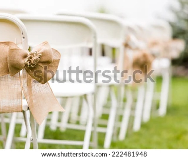 Empty White Chairs Before Wedding Ceremony