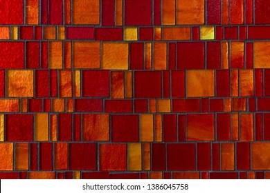 https www shutterstock com image photo glass mosaic redorange shades 1386045758