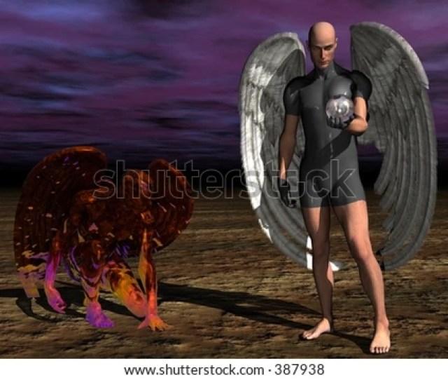 Good Versus Evil Angel Versus Demon Created With Bryce D