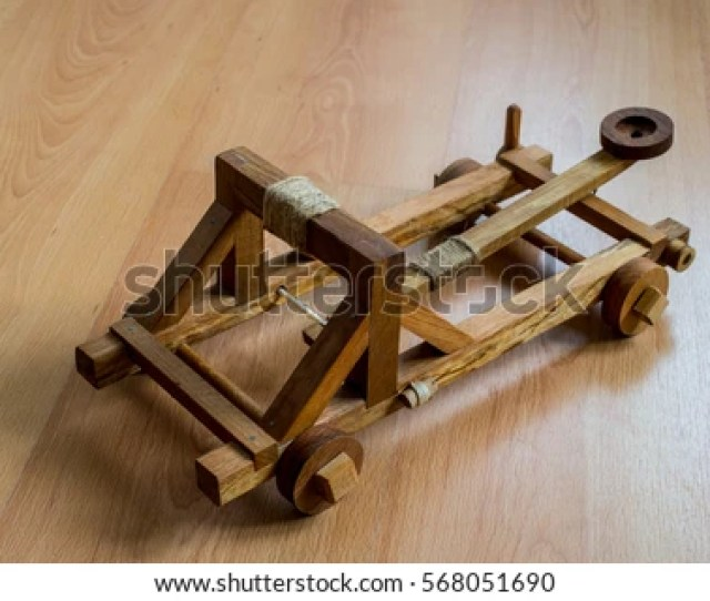 Handcraft Homemade Toy Wooden Catapult