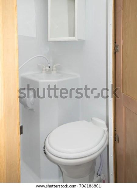 https www shutterstock com image photo interior toilet sink shower cabinet wet 706186801