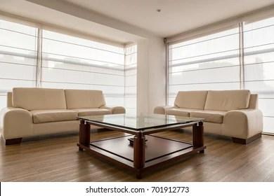 https www shutterstock com image photo living room two large windows beige 701912773