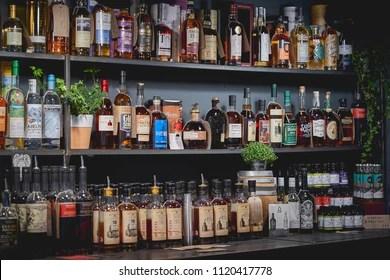 https www shutterstock com image photo london uk june 2018 shelves full 1120417778