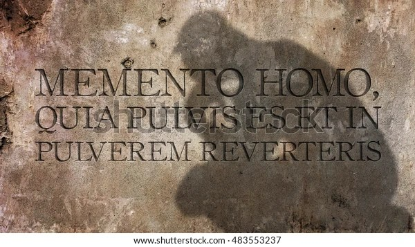 Image result for memento quia pulvis es in english