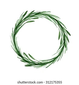 Watercolor Wreath Stock Images Royalty Free Images