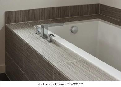 https www shutterstock com image photo modern bathtub tile trim 282400721