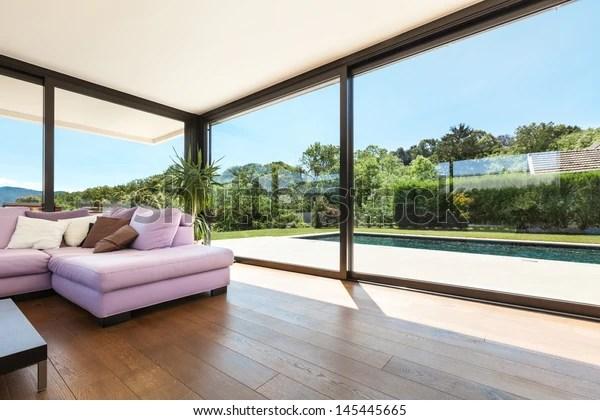 https www shutterstock com fr image photo modern villa interior wide living room 145445665