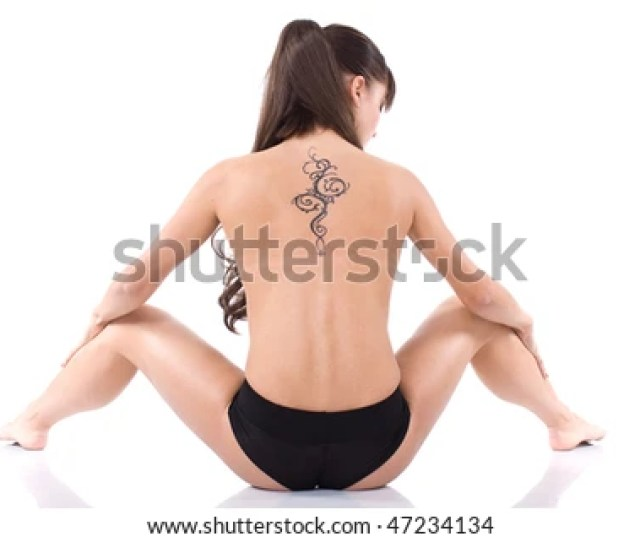Nude Girl With Tattoo
