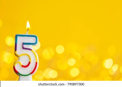 https www shutterstock com image photo number 5 birthday celebration candle against 790897300