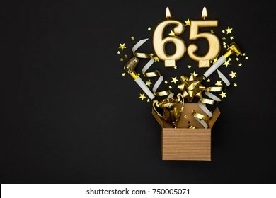 https www shutterstock com image photo number 65 gold celebration candle gift 750005071