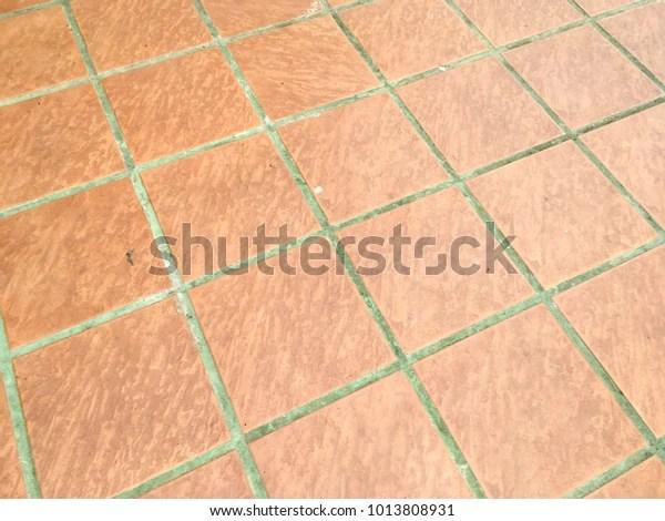 https www shutterstock com image photo old orange ceramic tile floor texture 1013808931