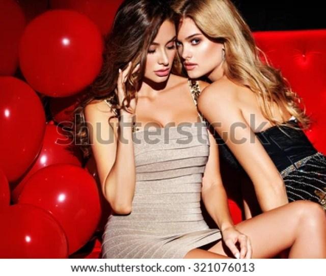 Party Sexy Girls On Lounge Celebrating