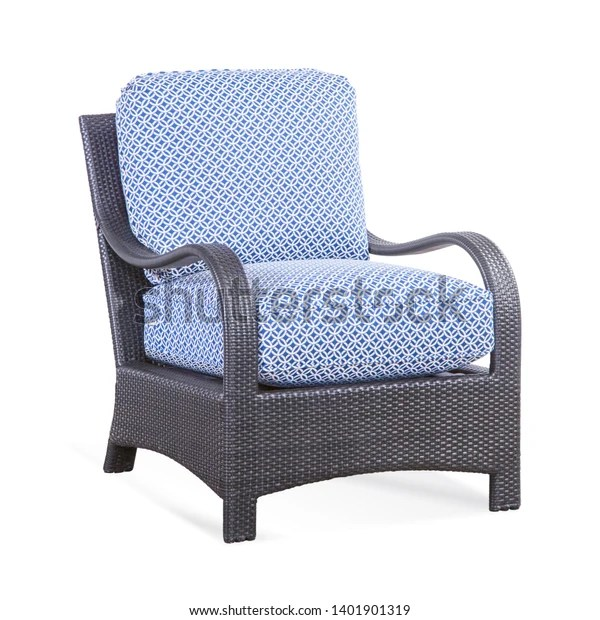 https www shutterstock com image photo patio chair cushions isolated on white 1401901319