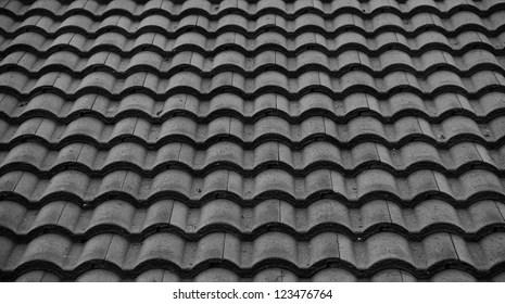https www shutterstock com image photo red tiles roof backgroundblack white 123476764