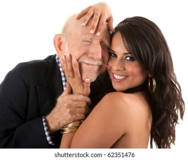 Rich Elderly Man With Hispanic Gold Digger Companion Or Wife
