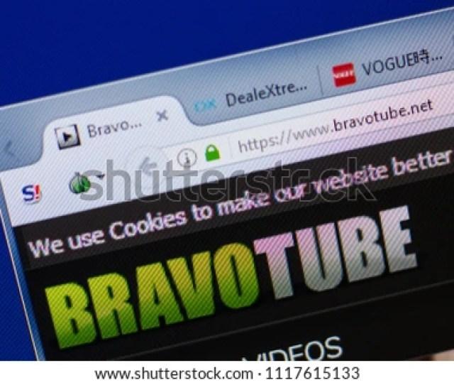 Ryazan Russia June 17 2018 Homepage Of Bravotube Website On The Display