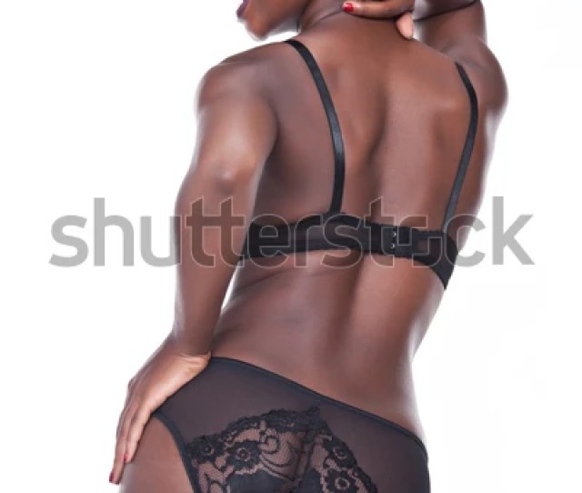 Sexy African American Girl Black Lingerie Stock Photo Edit Now