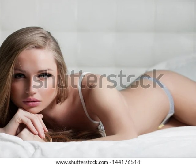 Sexy Beautiful Girl Lingerie Bed Stock Photo Edit Now