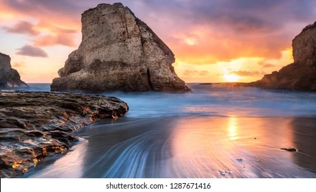8K Images - Shark Tooth Beach 4k 8k Stock Photo Edit Now 1287671416