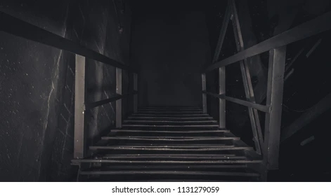Basement Stairs Images Stock Photos Vectors Shutterstock   Exterior Basement Entrance Stairs   Closed   Precast Concrete   Stone Wall   Daylight Window   Bedroom