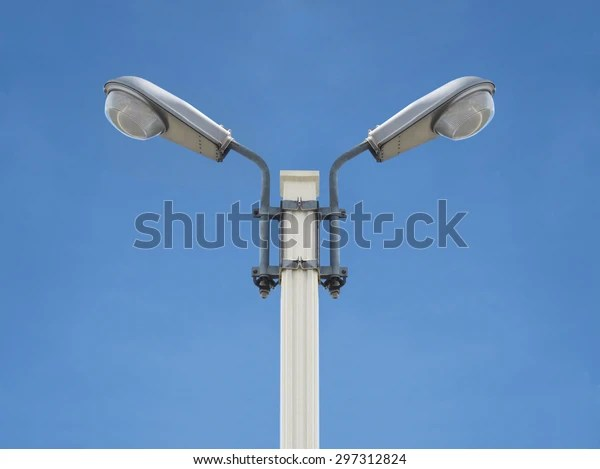 https www shutterstock com image photo street light electricity front view isolated 297312824