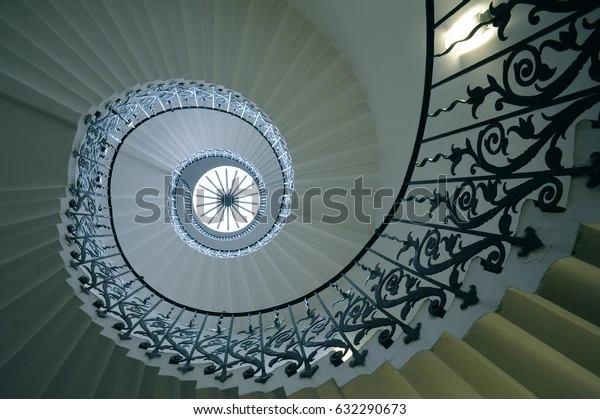 Sweeping Tulip Stairs One Original Features Stock Photo Edit Now | Self Supporting Spiral Staircase | Stairway | Concrete | Supporting Structure | Santa Fe | London Uk