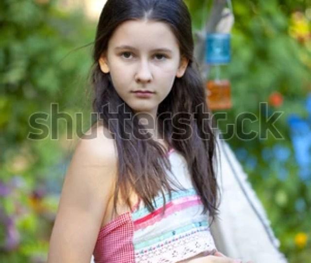 Sweet Teen Girl Dressed Like A Gypsy