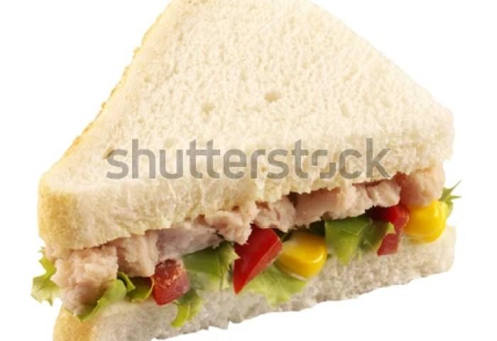 Tuna Salad Sandwich White Bread On Stock Photo Edit Now 622418054