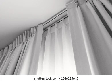 https www shutterstock com image photo two layers curtain rails installed on 1846225645