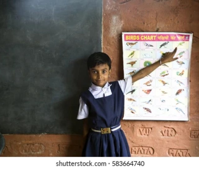Varanasi India  School Girl Teaching In Village School Varanasi Uttar Pradesh India