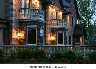 https www shutterstock com image photo view large luxurious home evening after 135576818