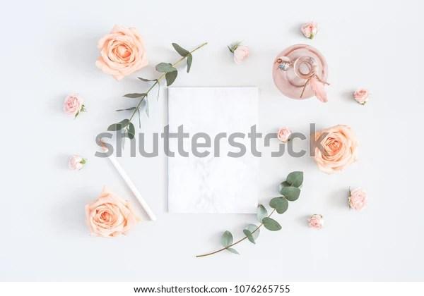 https www shutterstock com image photo wedding invitation card marble paper blank 1076265755
