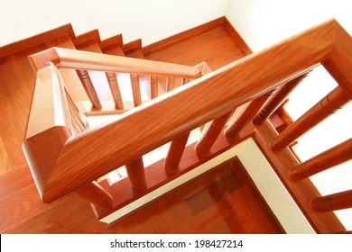 Wooden Banister Images Stock Photos Vectors Shutterstock   Wooden Banisters And Railings   Interior   Small   Horizontal   Creative Diy   Hand