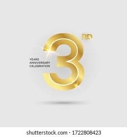 https www shutterstock com image vector 3rd 3d gold anniversary logo isolated 1722808423