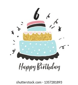 6th Birthday Cake Images Stock Photos Vectors Shutterstock